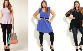 Мода для невысоких полных женщин