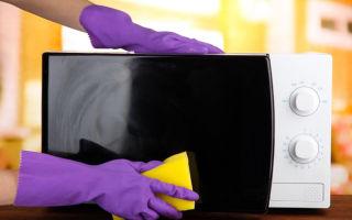 Очистка микроволновки от жира за 5 минут