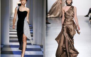 Модные вечерние платья на зиму 2018-2019