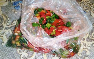 Как заморозить овощи на зиму в пакете